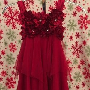 Red Holiday Formal Dress by BISCOTTI